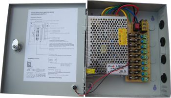 10 AMP CCTV Switching Power Supply with Enclosure