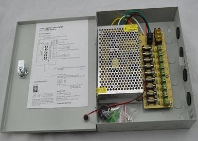 5 AMP CCTV Switching Power Supply Box with Enclosure